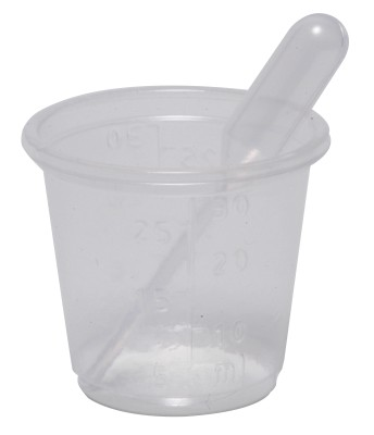 Pill Cup & Pipette - Individually Wrapped - Pack of 50