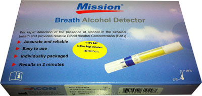 Mission Breath Alcohol Detector